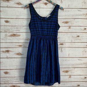 Nordstrom's Lush blue & black sleeveless dress